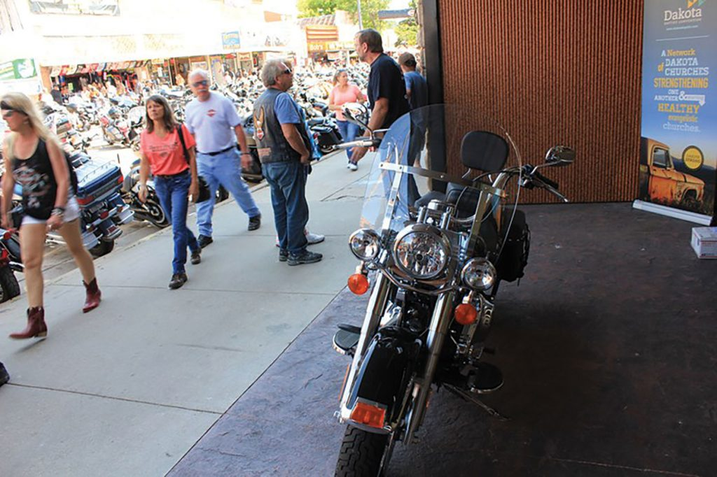 'Witnessing machine' Biker outreach yields results