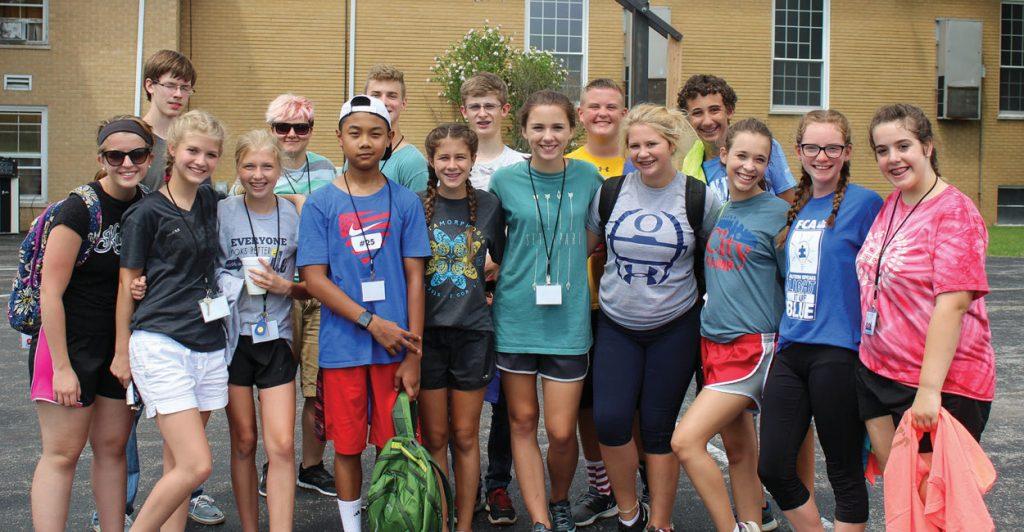 Teens serve new churches