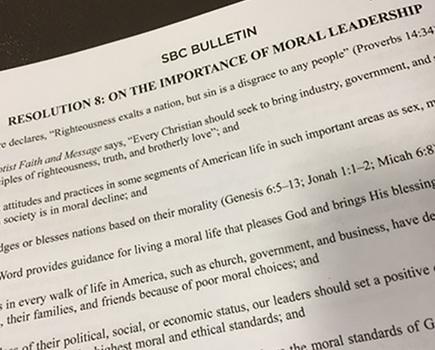 esoution on moral leadership