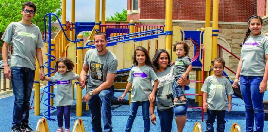 Live, work, play, serve: Families take an all-in approach to community transformation