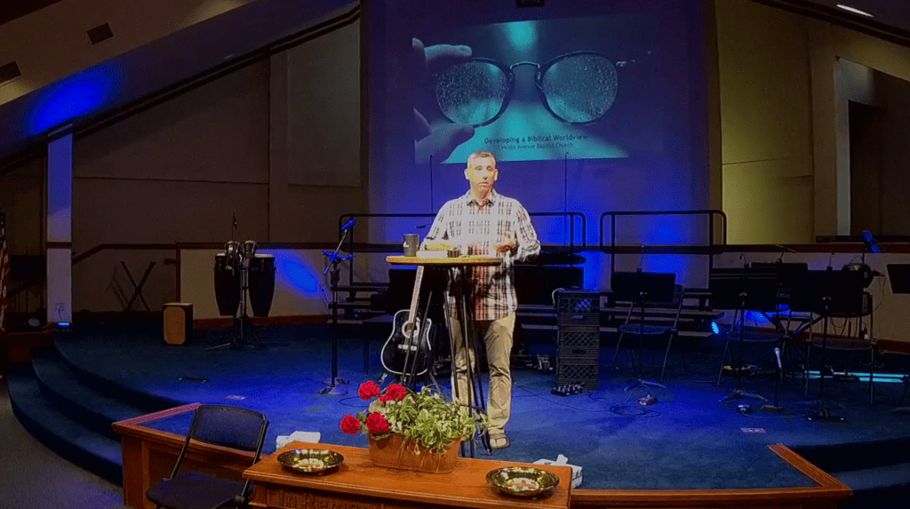 Professor schools church on developing a biblical worldview