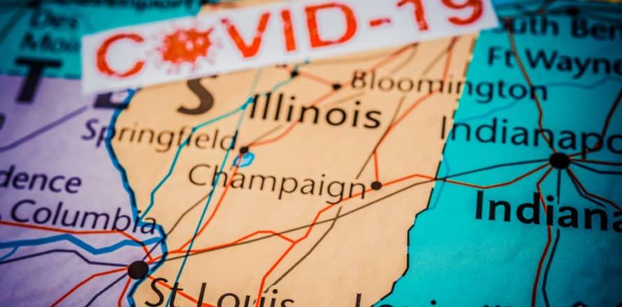 COVID cases in Illinois