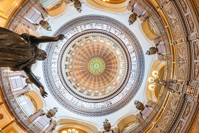 Interior Illinois Capitol Dome