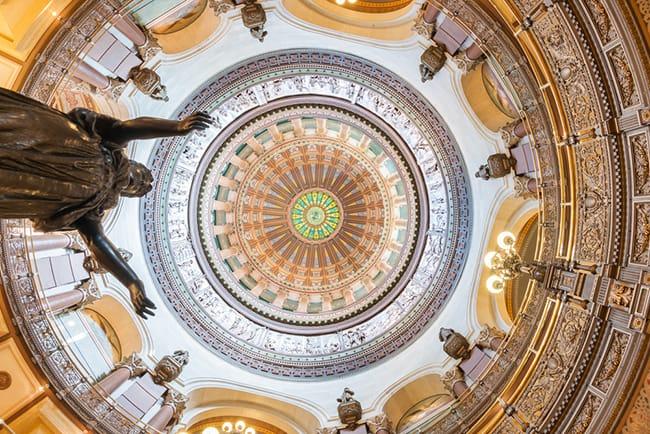 Interior Illinois Capitol Dome