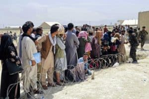 Afghan refugee photo from SendRelief.org.