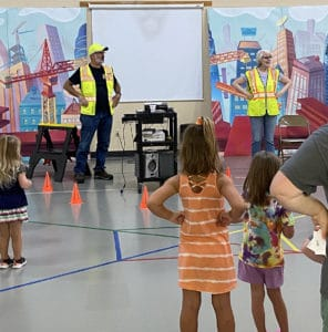 Jeff and Kathy Deasy lead a VBS class.