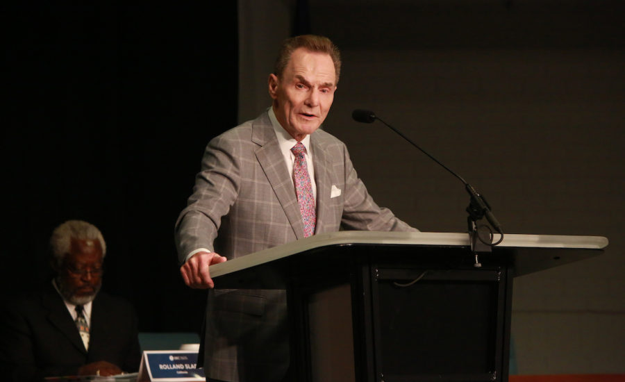 Ronnie Floyd addresses the SBC Executive Committee board of trustees during the group's Sept. 20–21 meeting in Nashville. Alabama Baptist photo by Van Payne.